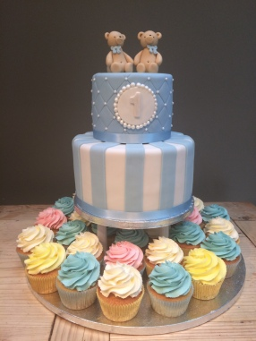First Birthday Cake and Cupcakes